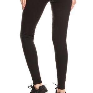 Pants - Faux Leather Moto Leggings